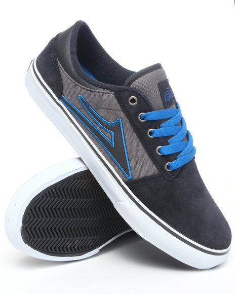 Lakai Men Grey Brea Grey/Blue Suede Sneakers