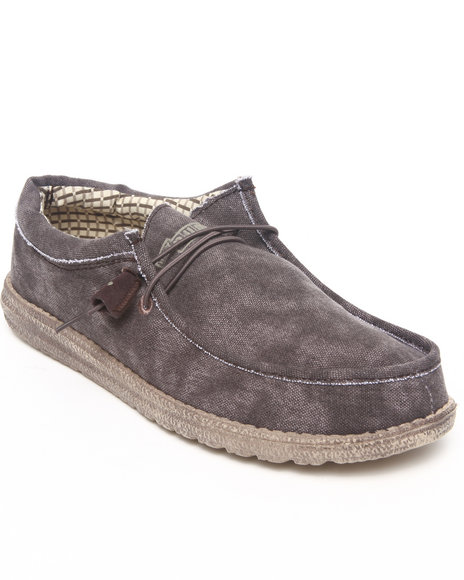 Hey Dude Footwear Men Brown Wally Lo