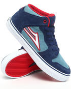Footwear - Carroll Select Blue/Red Suede Sneakers