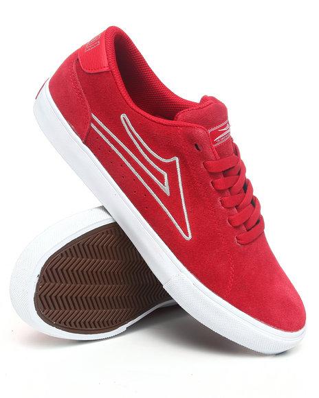 Lakai Men Crimson Mariano Red Suede Sneakers