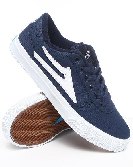 Lakai Men Navy Manchester Navy Canvas Sneakers