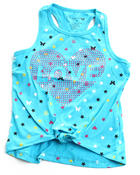 Tops - STUDDED ICON TIE FRONT TANK (4-6X)