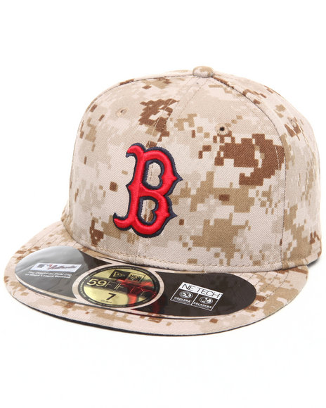New Era - Men Camo Boston Red Sox Memorial Day Marine Camo 5950 Fitted Hat