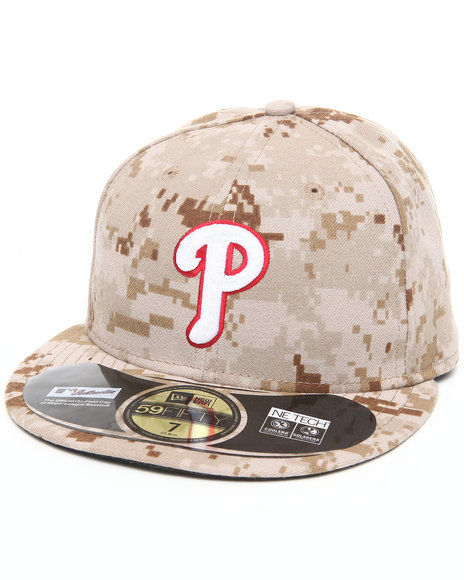 New Era - Men Camo Philadelphia Phillies Memorial Day Marine Camo 5950 Fitted Hat