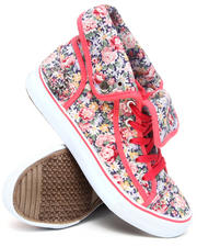 Apple Bottoms - Blossom Floral Fold Down Canvas Sneaker