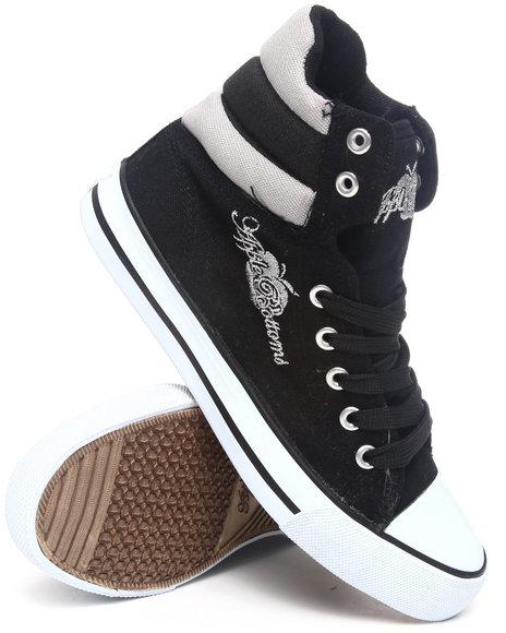 Apple Bottoms Women Black Kalo Colorblock Hightop Canvas Sneaker