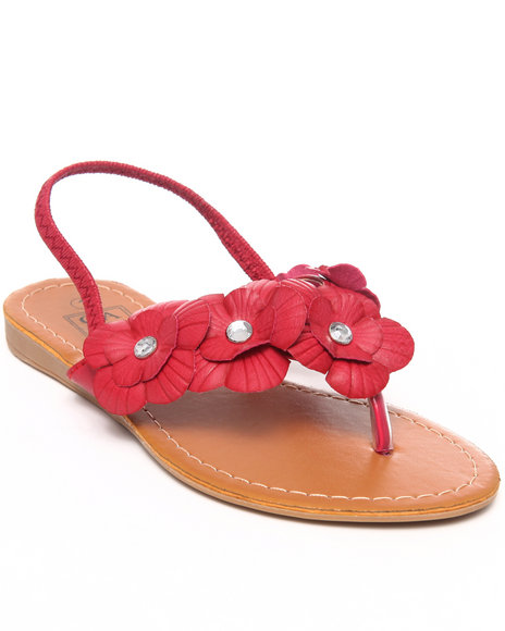 La Galleria Girls Pink,Pink T Back Sandal W/Flower
