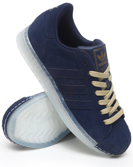 Adidas Men Navy Superstar Clr Ice Sole Sneakers