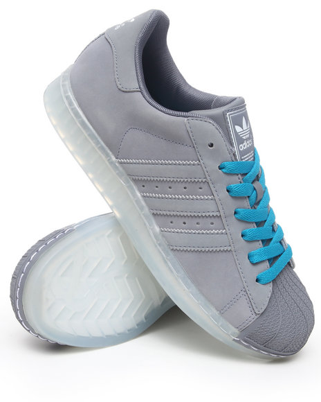 Adidas Men Grey Superstar Clr Ice Sole Sneakers
