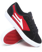 Footwear - Vista Black/Red Suede Sneakers