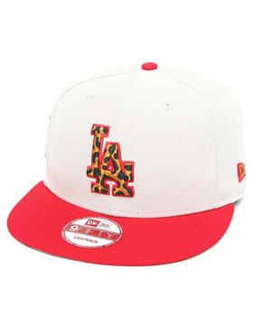 New Era - Los Angeles Dodgers White/ Leopard Print Logo Custom snapback hat (Drjays.com Exclusive)