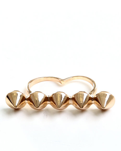 Drj Accessories Shoppe Women Spike Knuckle Ring Gold 1SZ