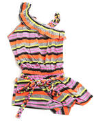 Girls - ASYMMETRICAL STRIPED ROMPER (4-6X)