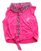 Girls - ANIMAL PRINT TIE FRONT TOP (7-16)