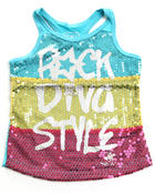 Girls - ROCK DIVA TANK (4-6X)