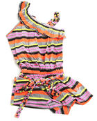 Girls - ASYMMETRICAL STRIPED ROMPER (7-16)