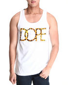 Men - Leopard Logo Tank Top
