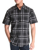 Men - Short Sleeve Plaid Woven Shirt
