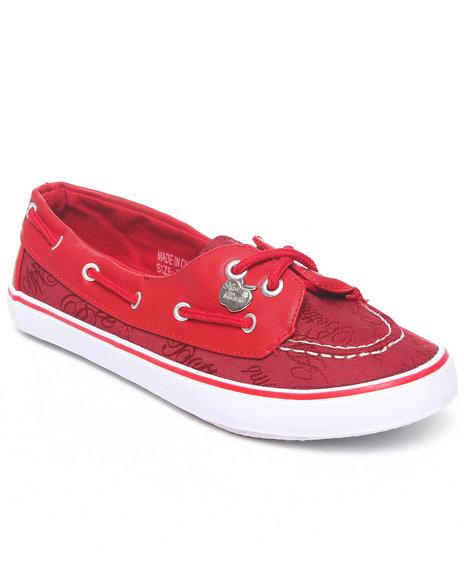 Apple Bottoms Women Red Lolly Deck Sneaker