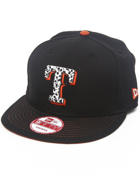 New Era Texas Rangers Safari Sprint Custom Snapback Hat Black