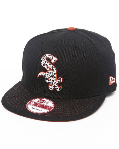 New Era Men Chicago White Sox Safari Sprint Custom Snapback Hat Black