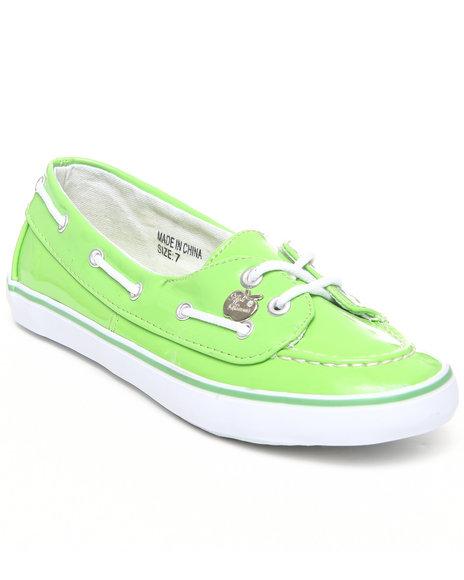 Apple Bottoms Women Lime Green Leona Boat Shoe