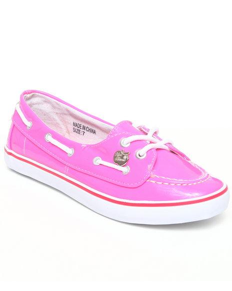 Apple Bottoms Women Pink Leona Boat Shoe