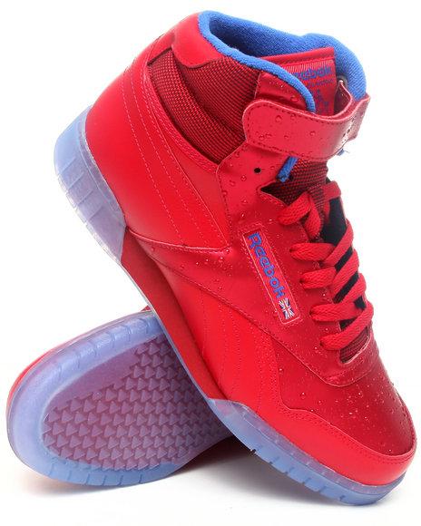 Reebok Men Red Exofit Plus Hi Sneakers