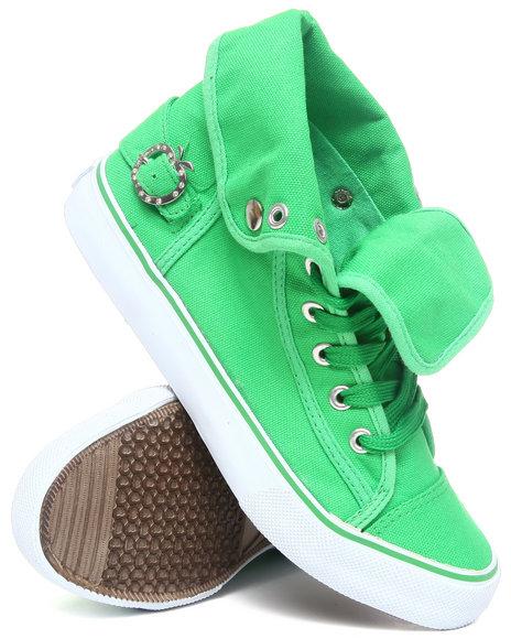 Apple Bottoms Women Lime Green Elton Canvas Sneaker