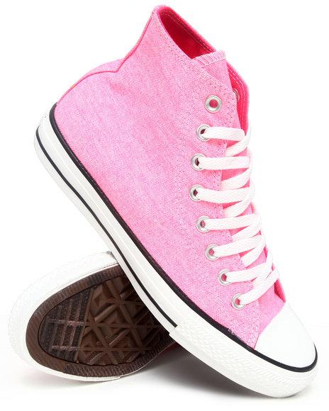 Converse Men Pink Chuck Taylor Hi Sneakers