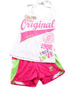 Girls - 2 PC SET - HALTER & SHORTS (7-16)