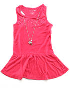 Girls - RHINESTONE SCATTER PEPLUM TOP (7-16)