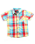 Button-downs - S/S PLAID WOVEN (4-7)