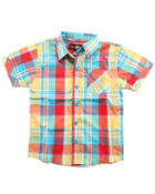 Button-downs - S/S PLAID WOVEN (2T-4T)