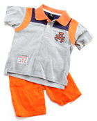 Sets - 2 PC SET - POLO & PLAID SHORTS (2T-4T)