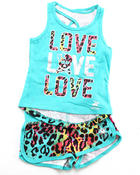 Girls - 2 PC SET - ANIMAL PRINT TANK & SHORTS (4-6X)