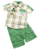 Akademiks - 2 PC SET - WOVEN & SHORTS (NEWBORN)