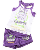 Girls - 2 PC SET - RACERBACK TANK & SHORTS (4-6X)