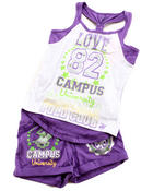 Girls - 2 PC SET - RACERBACK TANK & SHORTS (7-16)