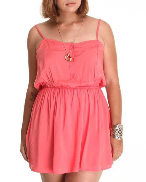Fashion Lab Women Pink Baby Doll Romper (Plus)