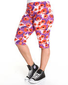 Women - Floral Capri Pants (plus)
