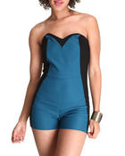 Fashion Lab - Race Track Romper w/contrast