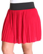Women - Mindy Mini Pleat Skirt (plus)