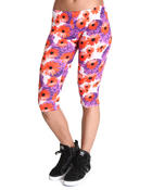 Women - Floral Capri Pants