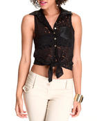 Women - Crochet Sleeveless Top