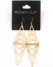 Black Friday Shop - Women - Gold Plated Pyramid Layered Earrings