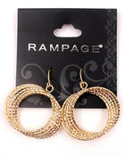 Women - Gold Plated Braided 3D Hoop Earrings