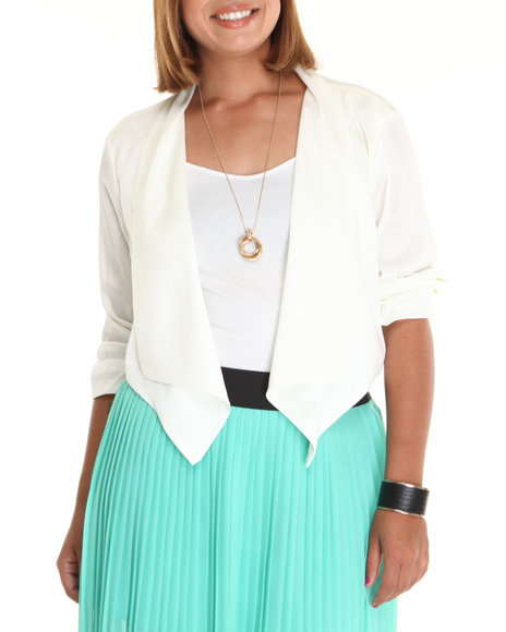 Fashion Lab Women Ivory The Lilly Blazer (Plus)