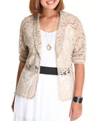 Fashion Lab - Crown Floral Crochet Blazer