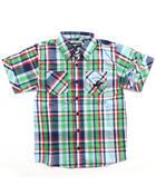 Button-downs - S/S PLAID WOVEN (8-18)